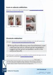 Acute en subacute nekklachten. Chronische nekklachten - Step