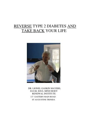 REVERSE TYPE 2 DIABETES AND TAKE BACK YOUR LIFE