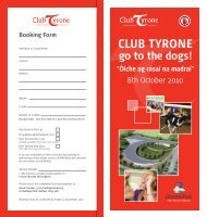 Club Tyrone Dog Race Night Booking Form - Tyrone GAA   Tir ...