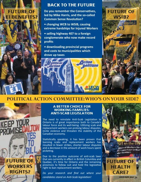 PoLITICAL ACTIoN CoMMITTEE: WHo'S oN     - UFCW 175 & 633
