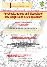 Psychosis, trauma and dissociation new insights and new ... - ISPS-US
