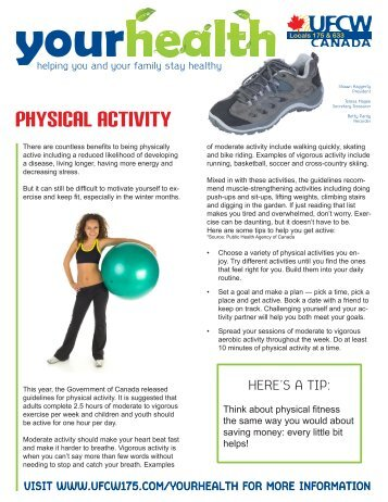 physical acTIVITY - UFCW 175 & 633