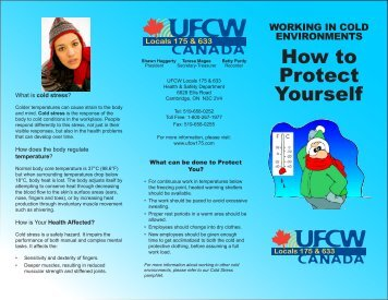 Cold Weather - UFCW 175 & 633