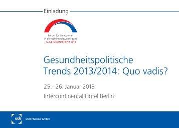 Gesundheitspolitische Trends 2013/2014 - Unternehmen-arztpraxis.de