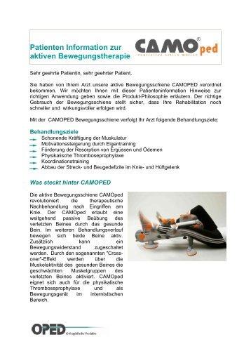 Patienten Information zur aktiven Bewegungstherapie - VACOped