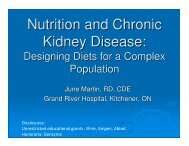 Nutrition and Chronic Kidney Disease: - Waterloo Wellington Diabetes