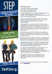 STEP Product info Individuele Snel Herstel Aanpak Snel erbij is ...