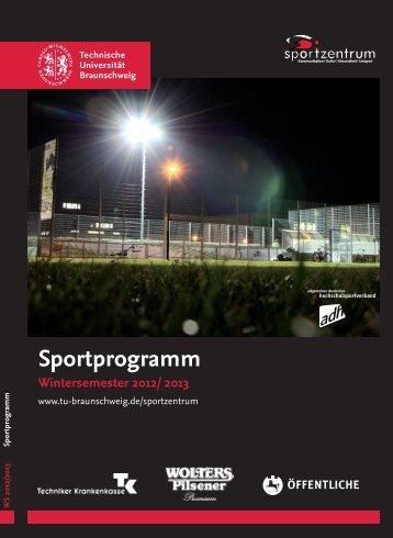 Sportprogramm Wintersemester 2012/ 2013 - Braunschweigischer ...