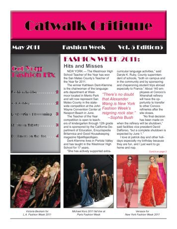 Fashion Fix Fashion Fix FASHION WEEK 2011:
