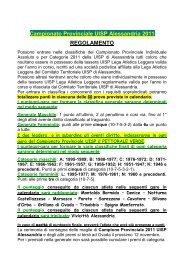 Campionato Provinciale 2011 UISP Alessandria - Genova di corsa
