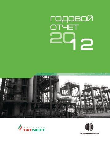 Годовой отчет за 2012 год - ОАО «Нижнекамсктехуглерод