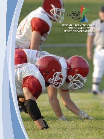RISK MANAGEMENT GUIDE FOR COMMUNITY ... - Sport 4 Ontario