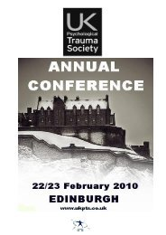 Pre-conference Workshops – 22 nd February 2010 - ukpts