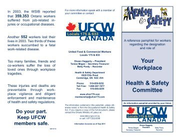JHSC Committees - UFCW 175 & 633