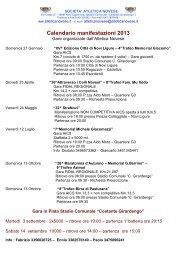 Calendario Manifestazioni 2013 Con Supporto ... - Genova di corsa