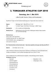 3. TAC 2010 Ausschreibung - sportforum torgau