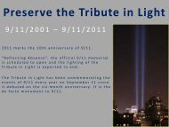 Preserving the Tribute in Light