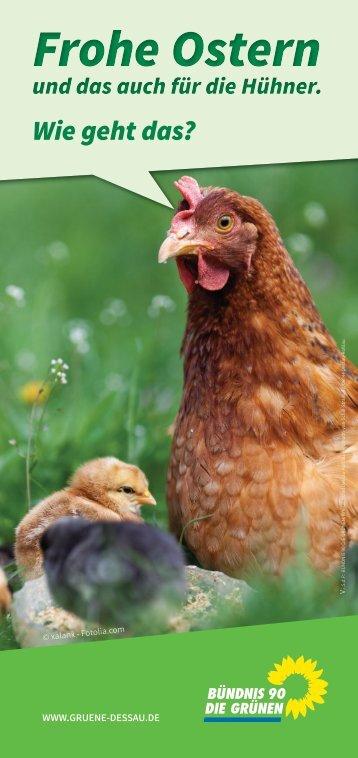 Frohe Ostern auch für die Hühner – Wie geht das?