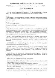 DELIBERAZIONE DI GIUNTA COMUNALE N. 71 DEL 25.03.2010 ...