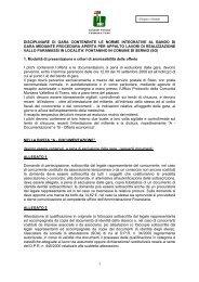 disciplinare di gara contenente le norme integrative al bando di gara ...
