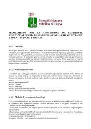 regolamento per la concessione di contributi, sovvenzioni, sussidi ...