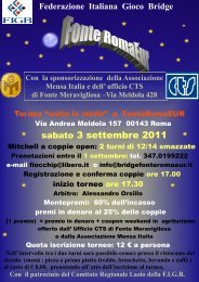locandina - Comitato Regionale Bridge Lazio