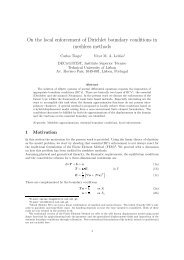 On the local enforcement of Dirichlet boundary conditions in ...