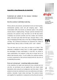 drupa 2012 – Press Release No. 34 / April 2012 Customized yet ...