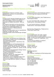 Palliativ-Basiskurs 2012 für Ärztinnen und Ärzte