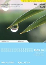 Broschüre CAS in Palliative Care HES-SO