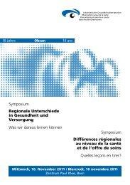 Programm Symposium Obsan