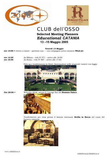 Programma di viaggio - CLUB DELL'OSSO 2000
