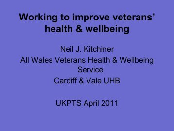 Working to improve veterans' health & wellbeing - ukpts