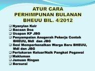 ATUR CARA PERHIMPUNAN BULANAN BHEUU BIL. 3/2012