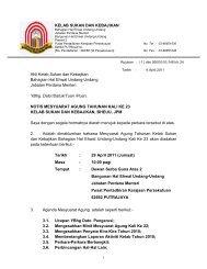 Notis Mesyuarat Agong KSK Ke-23 - bheuu