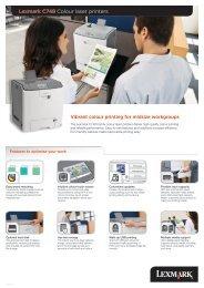 Lexmark C748 Colour laser printers