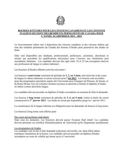 Bourses D A C Tudes Pour Les Citoyens Canadiens Et Cibpa
