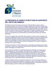 Patto dei Sindaci - Provincia di Udine