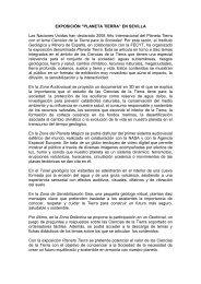 """EXPOSICIÓN """"PLANETA TIERRA"""" EN SEVILLA"""
