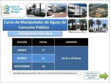 Curso de Manipulador de Aguas de Consumo Público - Emasesa
