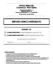 modello cambio intestatario-indirizzo utenza serv.idr - Comune di ...