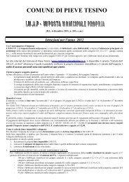 informativa IMUP 2012 comune pieve tesino - Comune di Pieve ...