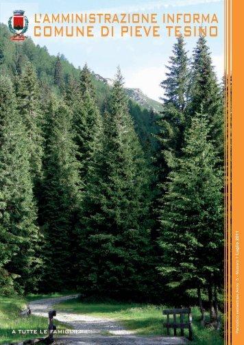 Anno V - Numero 1 - Luglio 2011 - Comune di Pieve Tesino