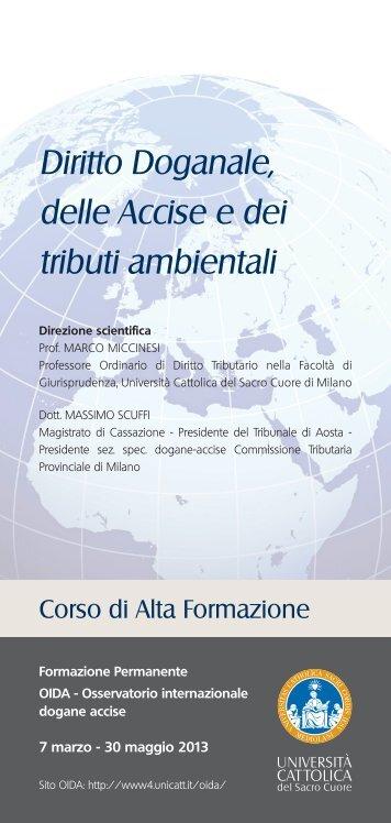 brochure FP Diritto Doganale 2012.indd - Studio Legale Tributario ...