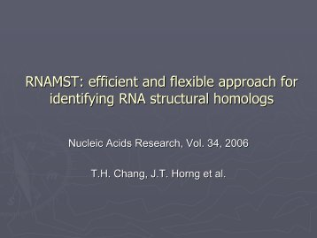 RNAMST: efficient and flexible approach for identifying RNA ...