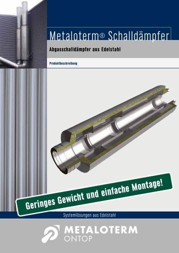 Schalldämpfer Broschüre - Metaloterm