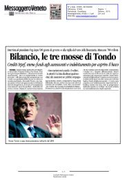 Messaggero Veneto N° 91006 - 06/10/2009 - 6 - la Presidente