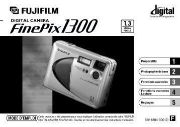 Mode d'emploi FinePix 1300.pdf - Fujifilm France