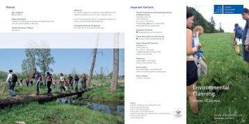 Environmental Planning M.Sc. - Leibniz Universität Hannover
