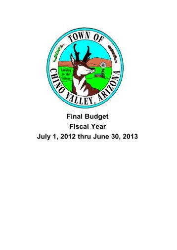 Final Budget Fiscal Year July 1, 201 thru June 30, 201